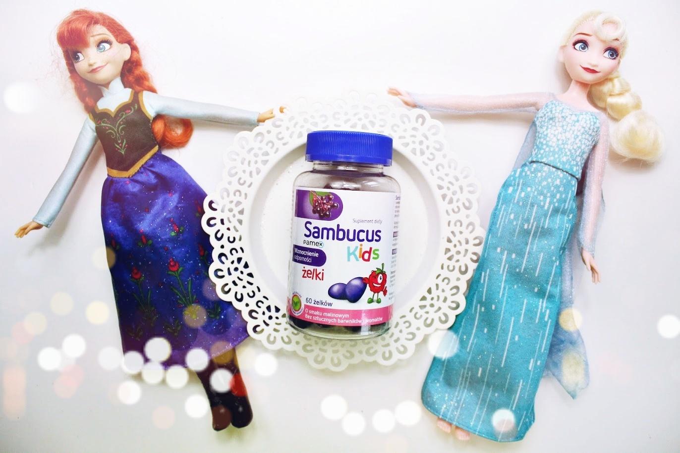 Sambucus Kids - żelki o smaku malinowym
