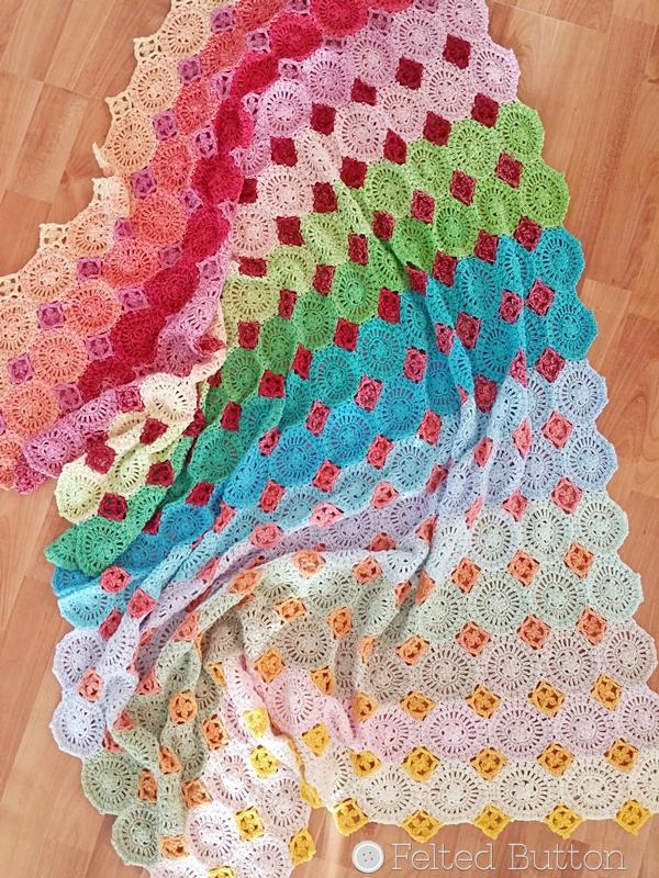 Lightfall Blanket Crochet Pattern by Susan Carlson of Felted Button