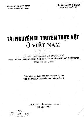 [EBOOK] TÀI NGUYÊN DI TRUYỀN THỰC VẬT Ở VIỆT NAM, NHIỀU TÁC GIẢ, NXB NÔNG NGHIỆP
