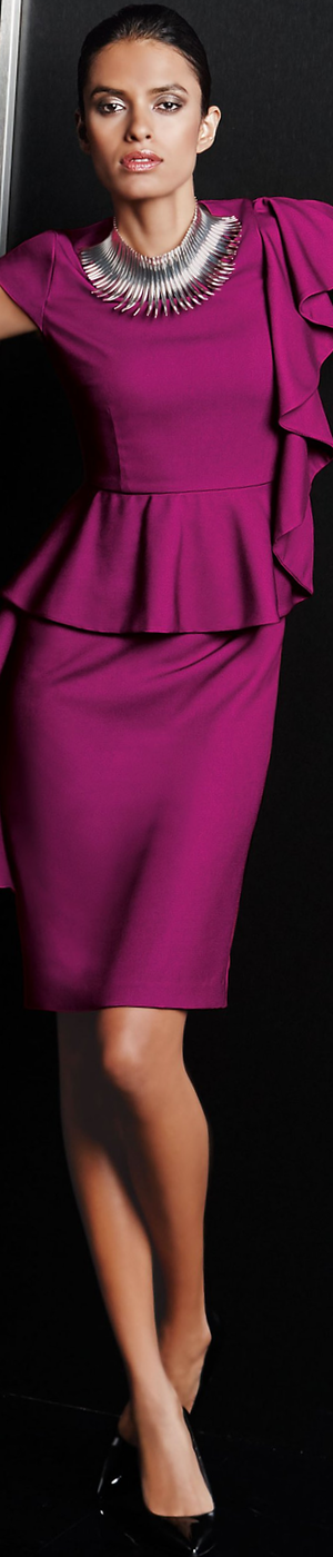 Madeleine Magenta Dress