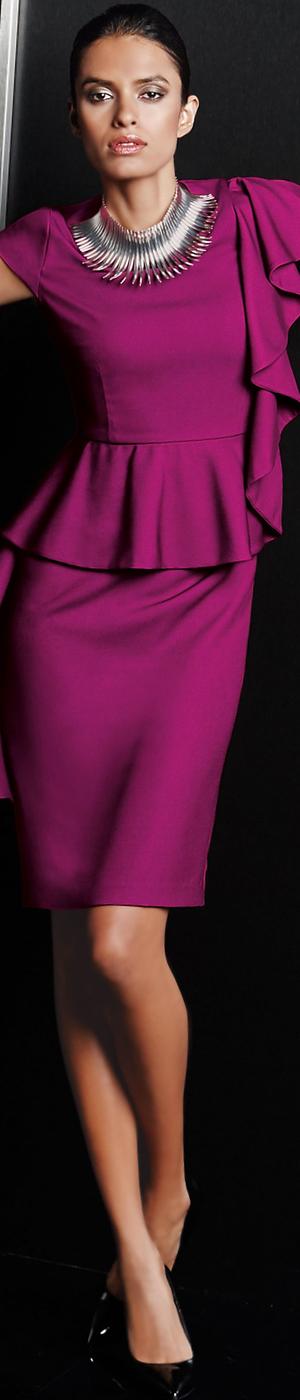 Madeleine Magenta Dress