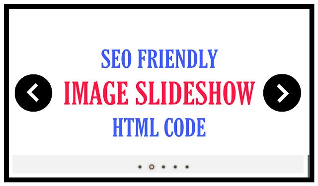 Free responsive image slideshow html code for website