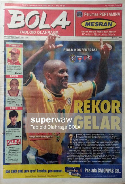 Tabloid BOLA: REKOR GELAR
