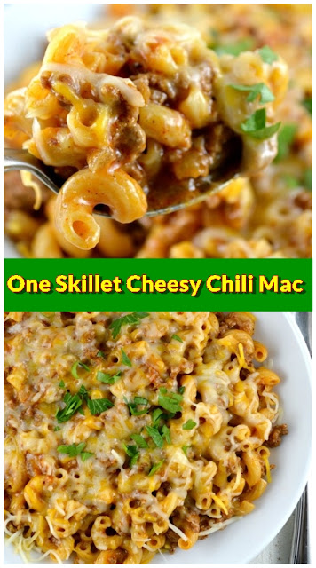 One Skillet Cheesy Chili Mac
