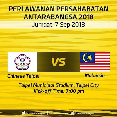 Live Streaming Malaysia vs Chinese Taipei 7.9.2018
