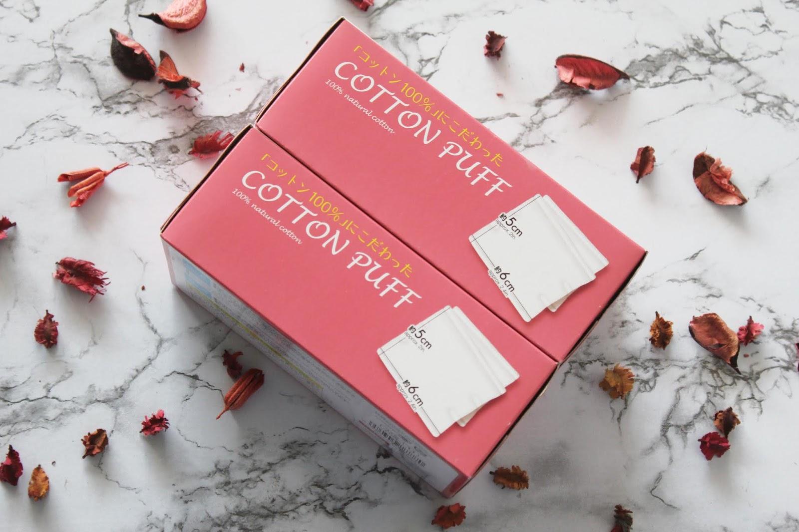 Daiso Cotton Puff | www.syazaraihanah.com