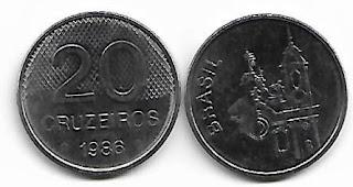 20 Cruzeiros, 1986