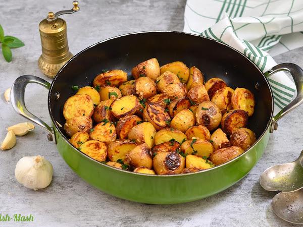 Печени пресни картофи с мента