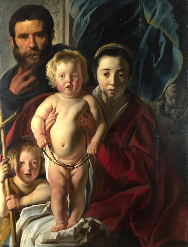 Jacob Jordaens - The Holy Family and Saint John the Baptist