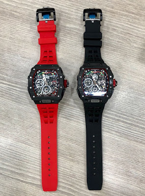 Jam Tangan Richard Mille body Carbon merah