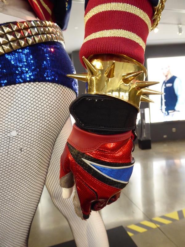 Suicide Squad Harley Quinn bracelet glove costume detail