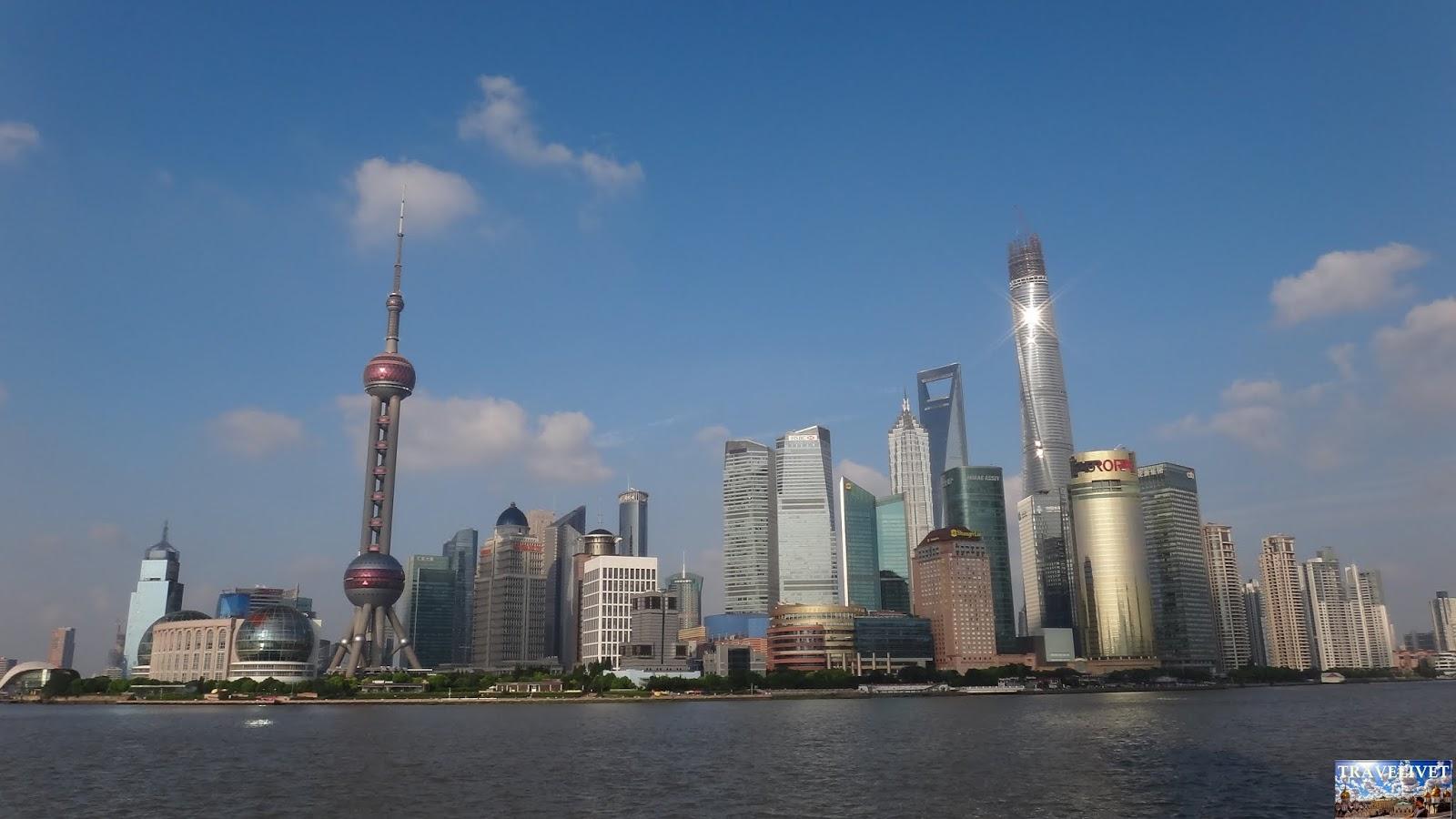 Chine China Bund vue Shanghai