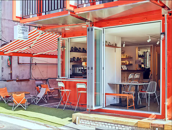 Shipping Container 4 Story House - Office, Cafe and Hotel in Seoul, South Korea 15