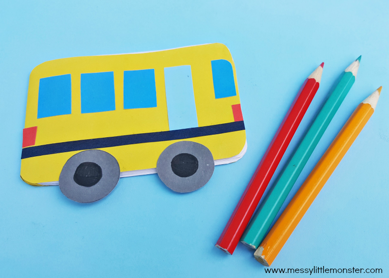 back to school craft for kids - school bus craft