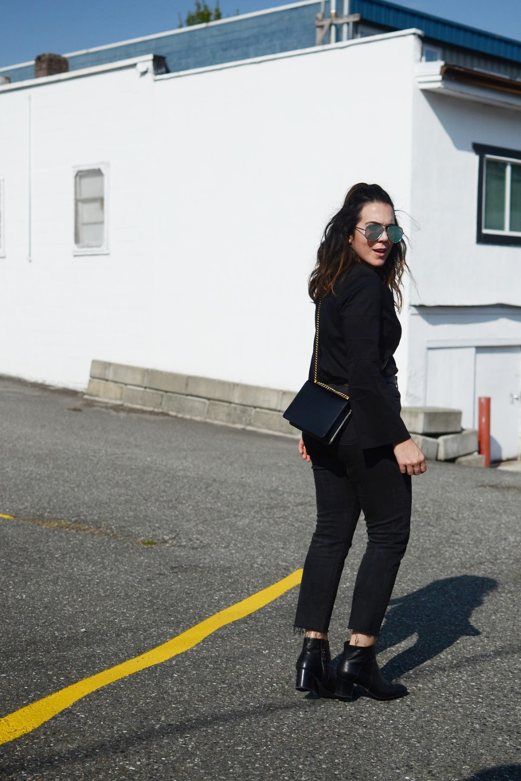 Gucci marmont belt le chateau blouse vancouver fashion blogger gucci marmont bag aleesha harris 7