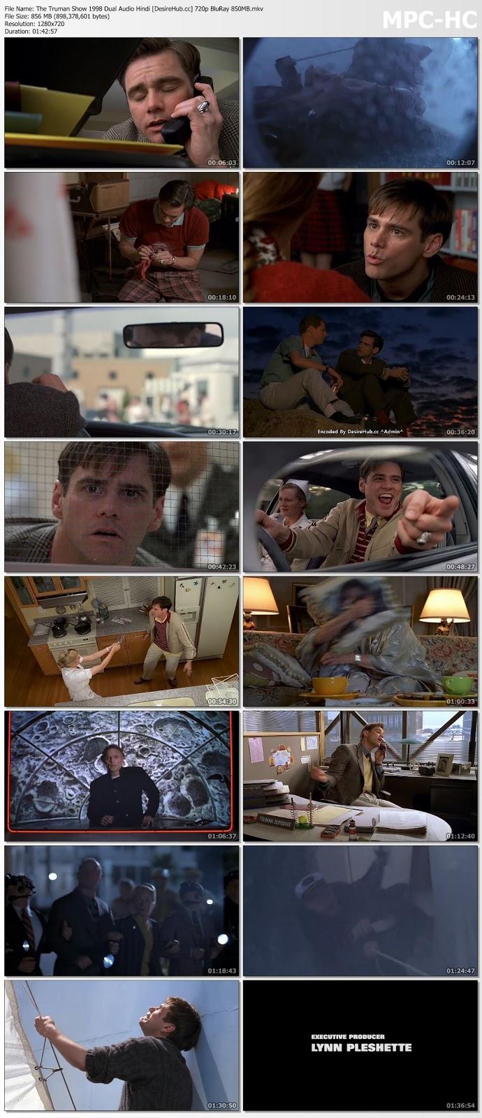 The Truman Show 1998 Dual Audio Hindi 720p BluRay 850MB Desirehub