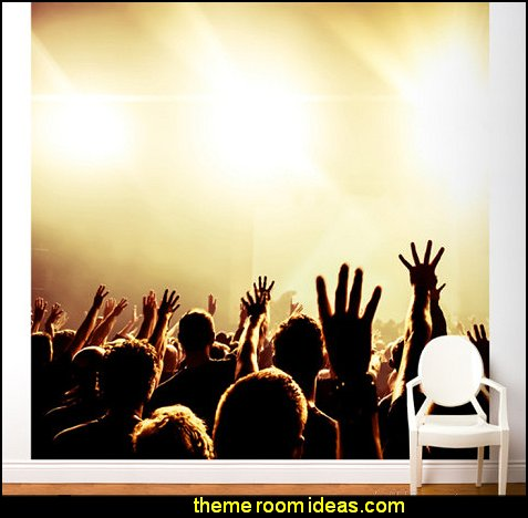 Decorating theme bedrooms maries manor music bedroom for Audience wall mural