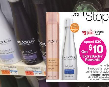 Nexxus Shampoo CVS Freebie 11/8-11/14