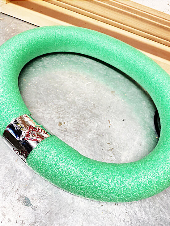 flex tape around pool noodle to form a circle