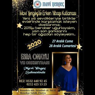 Mavi Yengeç Florya İstanbul Yılbaşı Programı 2020 Menüsü