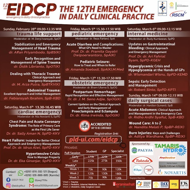 THE 12TH EMERGENCY IN DAILY CLINICAL PRACTICE MAIN EVENT WEBINAR 2021