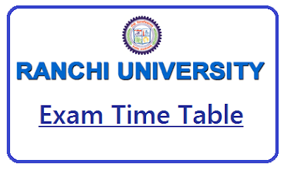 Ranchi University Exam Date Sheet 2018