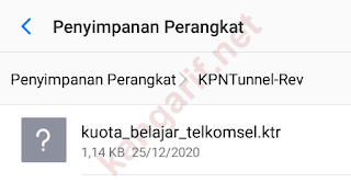 lokasi file config kpn tunnel rev