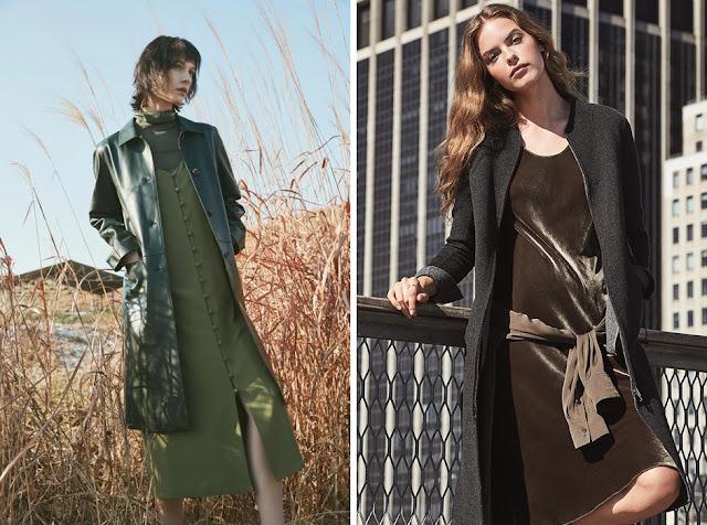Многослойные сочетания с платьем-комбинацией с пальто
