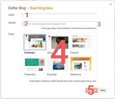 cara membuat blog mudah dengan android