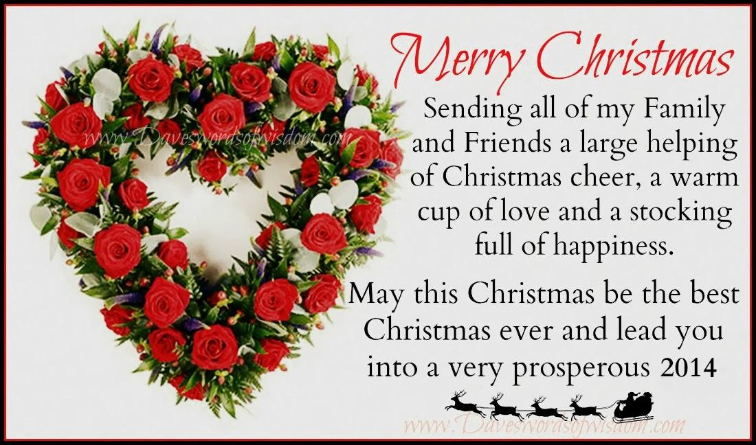 Daveswordsofwisdom.com: Merry Christmas, My Family & Friends