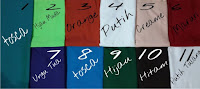 Kain Tenun Polos Berbagai Warna Pilihan TP-01