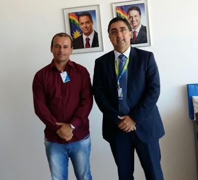 Danúbio Evangelista se reúne com o presidente da Compesa
