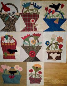 Baskets of Plenty applique blocks