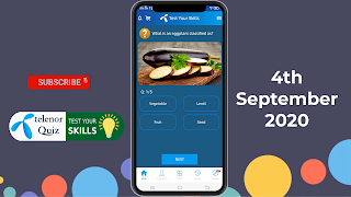 My Telenor Quiz 12 September 2020