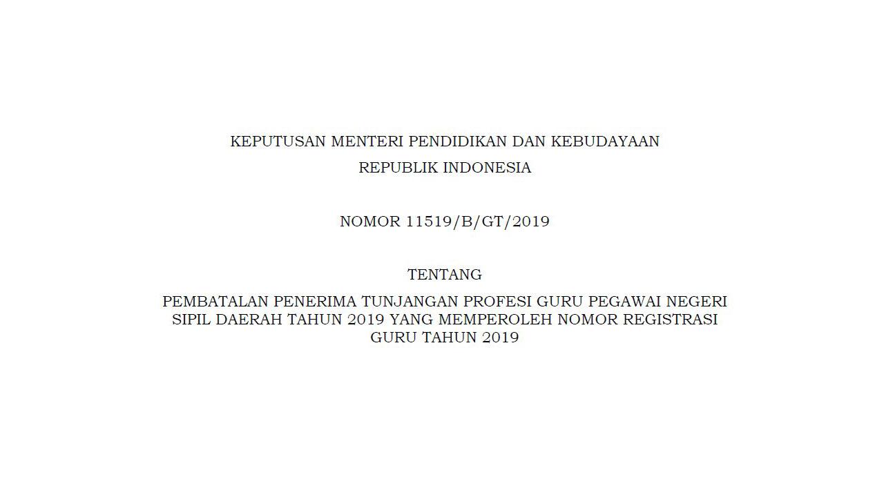 pembatalan SKTP 2019