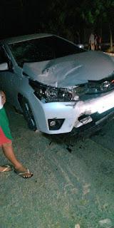Varjota: Duas pessoas ficam ferida após colisão entre moto e carro