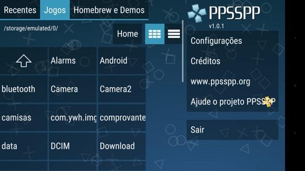 Localização do jogo na memória do smartphone
