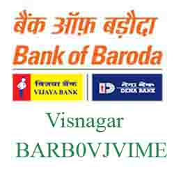 Vijaya Baroda Bank Visnagar Branch New IFSC, MICR
