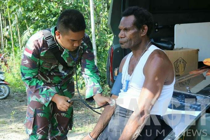 Satgas Raider 300 Peduli Warga Binaan Dengan Berikan Pelayanan Kesehatan