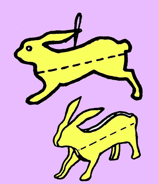 Как сделать елочную игрушку зайца