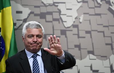 O senador Major Olímpio (PSL) durante sessão do Senado Federal, em Brasília. — Foto: Divulgação/Senado Federal