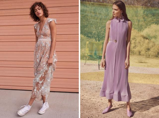 Пастельные платья с кедами