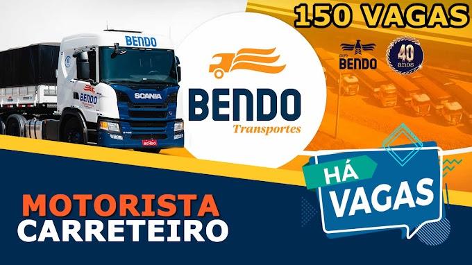 Transportadora Bendo abre 150 vagas para Motorista