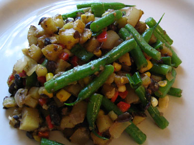 Black and Green Bean Corn Hash