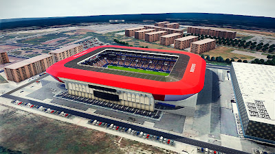 PES 2021 Stadium El Sadar with Aerial View