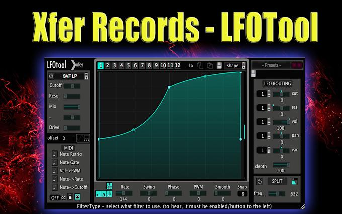 Xfer Records - LFOTool v1.762 VST / AAX / AU - WiN-MacOS