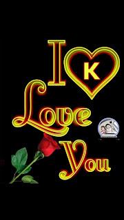 i love you k nameart