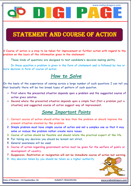 DP | Statement & Course of Action | 23-Sep-16