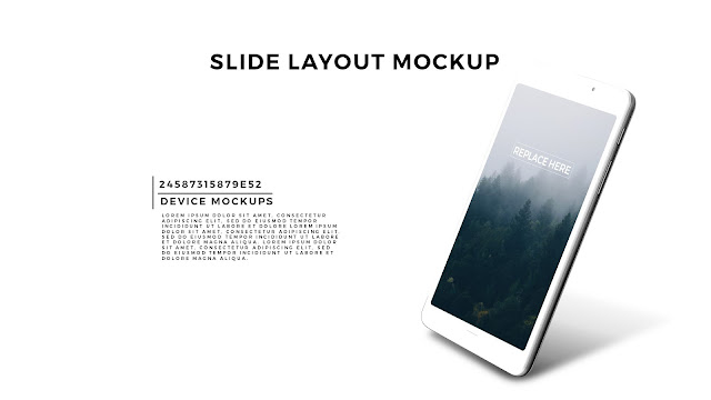 Perspective GALAXY TAB Screen Mockup PowerPoint Template