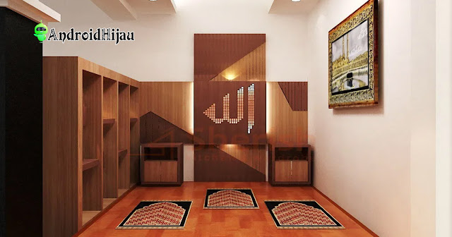ornamen kayu mushola rumah minimalis lebih elegan